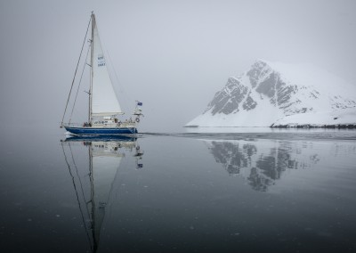 "Arctica II during the filming of ""Faces of Dav"" in Svalbard, Norway on May 30, 2014. — photo: Christian Pondella"